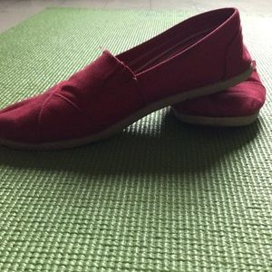 Slide on shoes.